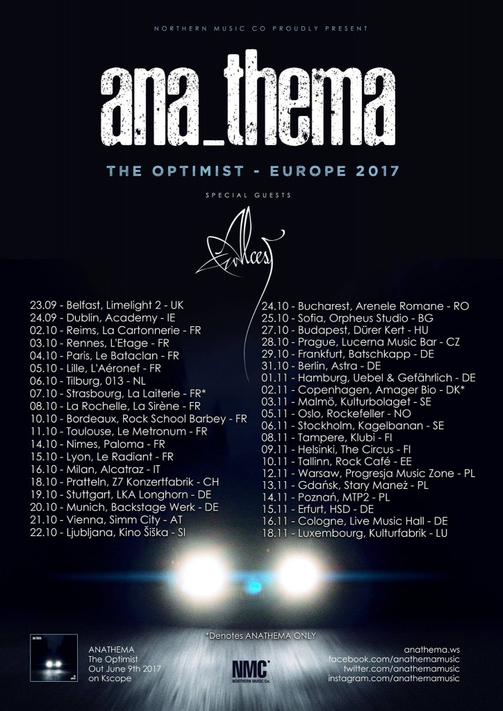 Anathema tour dates
