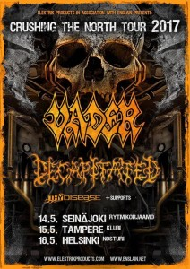 Vader, Decapitated, Thy Disease, Crushing The North