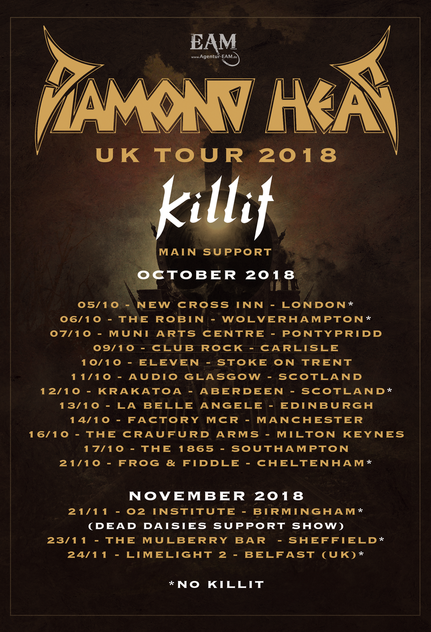Diamond Head UK Tour 2018
