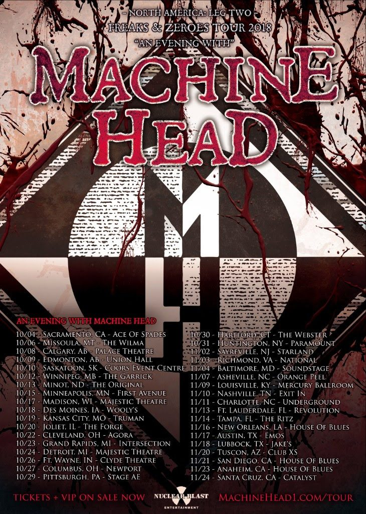 Machine Head - 2018 Farewell Tour - Poster