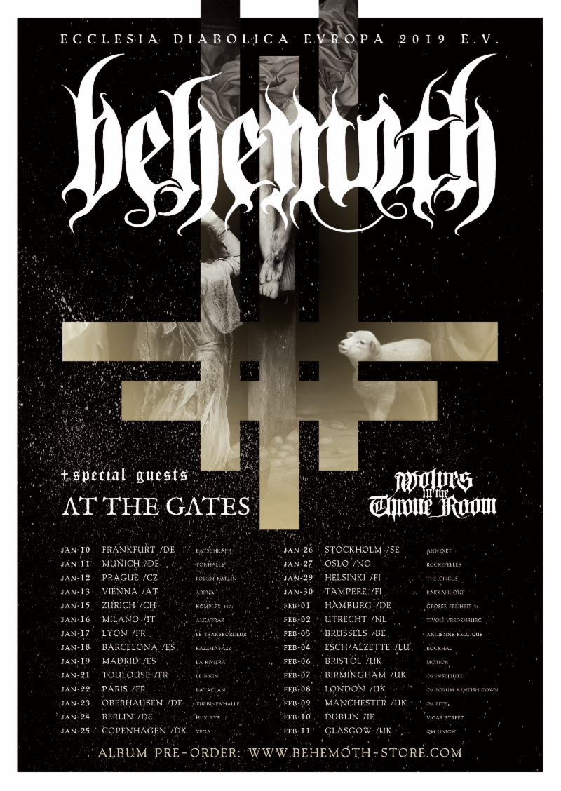 At the Gates - European Tour - Poster