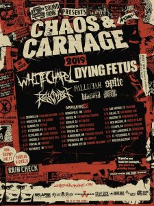 Chaos & Carnage - Whitechapel and Dying Fetus - Poster
