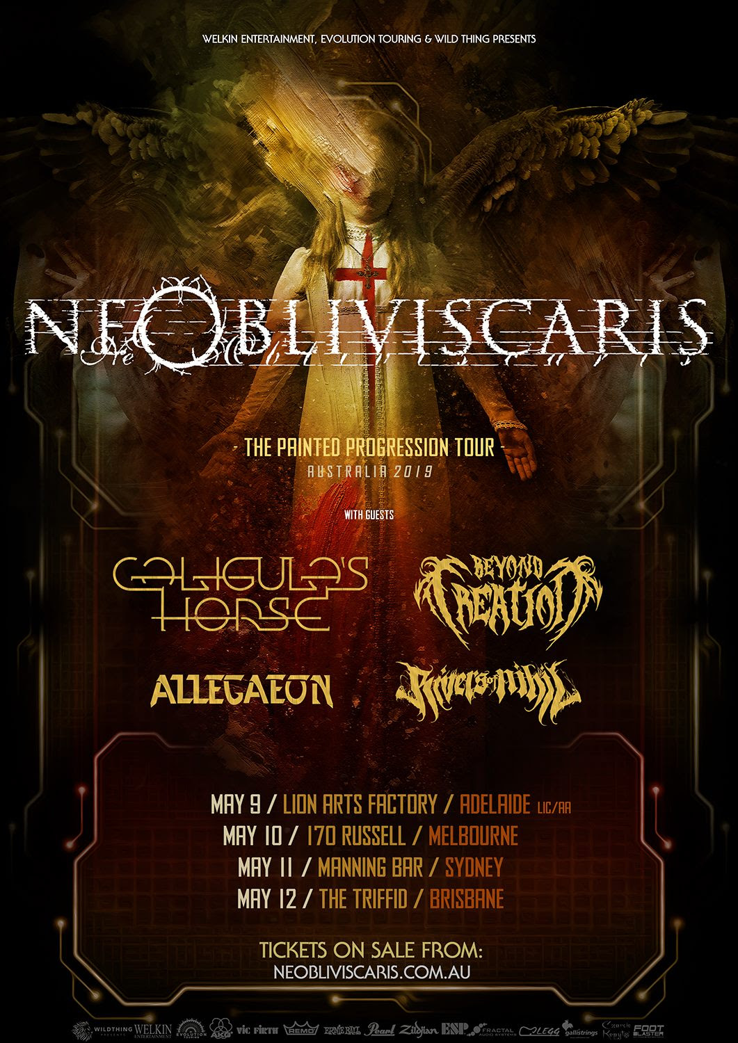 Ne Obliviscaris - Tour Poster